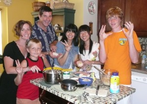 McGinty-Family-with-Japanese-Students-making-rice-balls-300x213