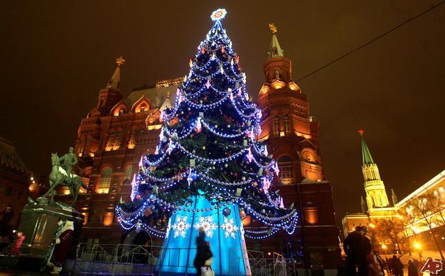 Russian New Years Eve tree