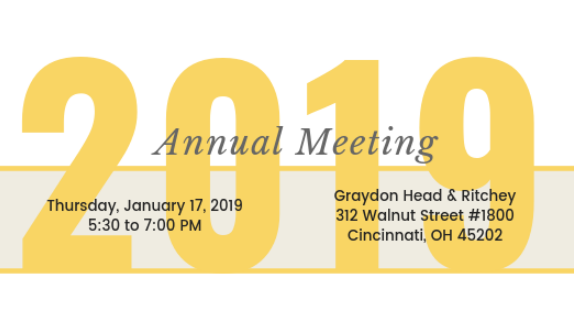 2019 Annual Meeting • World Affairs Council of Cincinnati and
